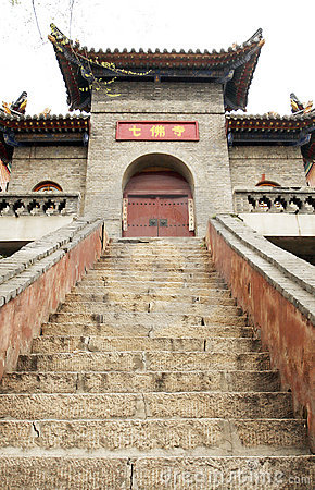 Step of the temple.
