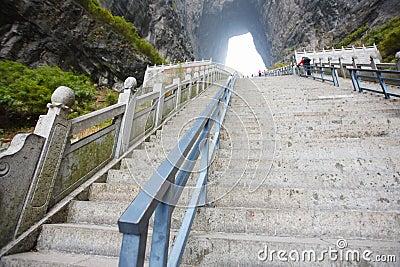 Step in tianmen mountain