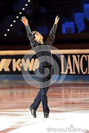 Stephane Lambiel at 2011 Golden Skate Award Editorial Stock Photo