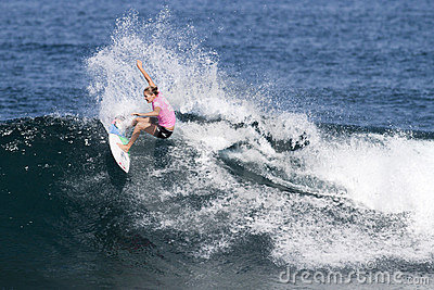 Stephanie Gilmore Surfing in the Triple Crown Editorial Photography