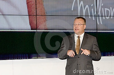 Stephen Elop, Nokia Editorial Stock Photo