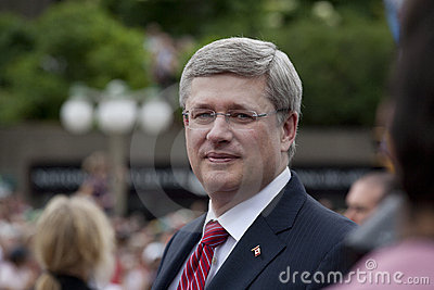 Stephen Harper Prime Minister Canada Editorial Photography