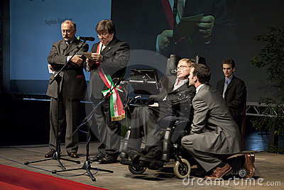 Stephen Hawking Editorial Stock Photo