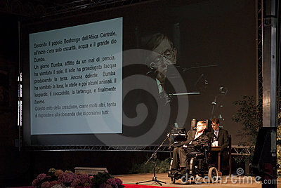 Stephen Hawking Editorial Stock Image