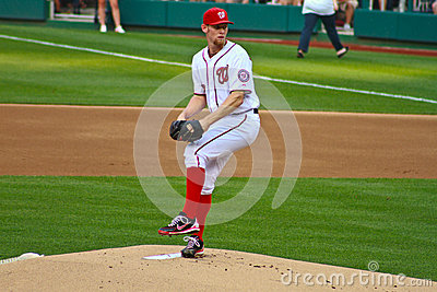 Stephen Strausburg Washington Nationals Editorial Stock Image