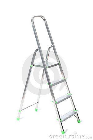 Stepladder isolated on white
