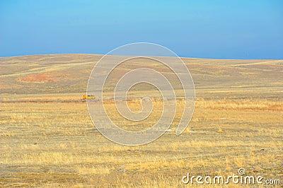 Steppe landscape Stock Photo