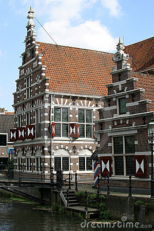 Stepped gable houses in Holland