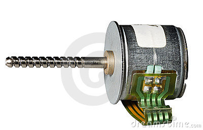 Stepper motor.