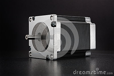 Stepper motor of CNC linear axis drive
