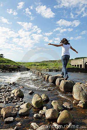 Free Stepping Stones Stock Photography - 15856832
