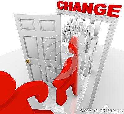 Free Stepping Through The Change Doorway Stock Image - 13531001
