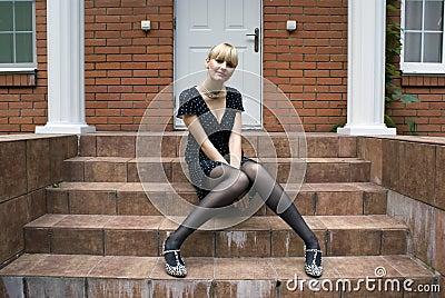 At steps