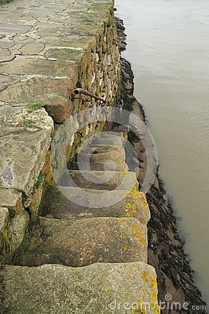 Free Steps Down From Saint Andrews Harbour Wall Stock Photos - 64490613