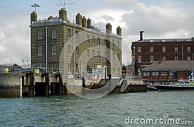 Steps du Roi, base navale de Portsmouth Image éditorial