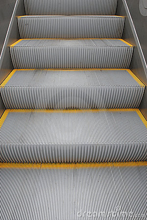Steps on a escalator