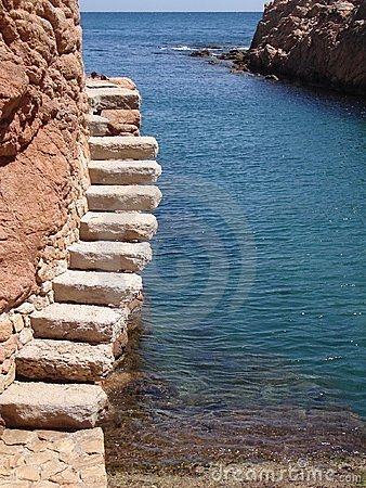Steps next to mediteranean