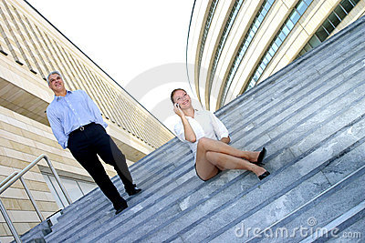 On Steps By Office Building 3