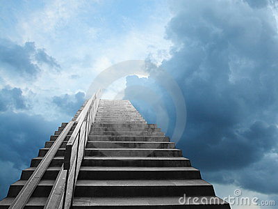 Steps pointed to the sky