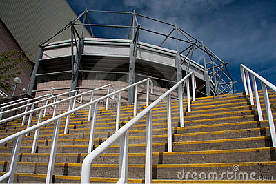 Steps at St James  Park, Newcastle
