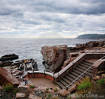 Steps At Thunder Hole