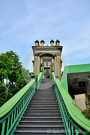 Steps to Muslim mystic shrine Singapore