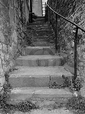 Steps up a Dark Alley