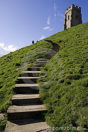 Steps up to glastonbury tor