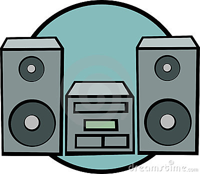Stereo music system vector illustration