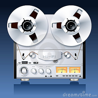 Stereo reel to reel tape deck player