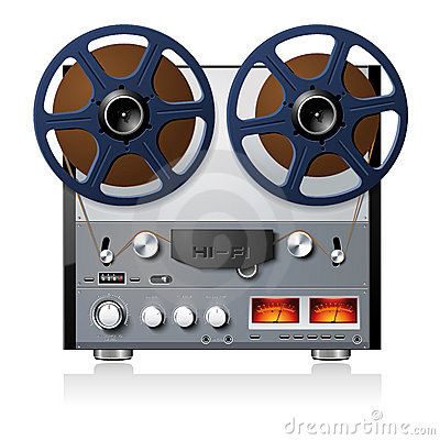 Stereo reel to reel tape deck player recorder