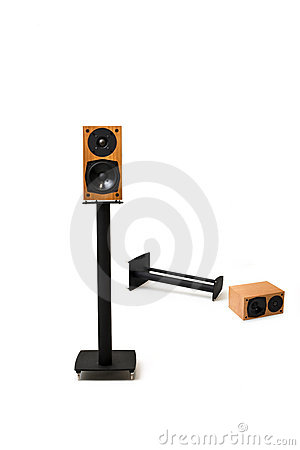 Stereo speakers with stands