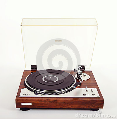 Free Stereo Turntable Vinyl Record Player Analog Retro Vintage Royalty Free Stock Photography - 46494467
