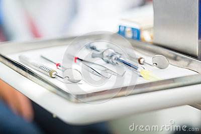 Sterile tools for dentist in practice