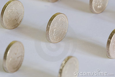Sterling one pound coins