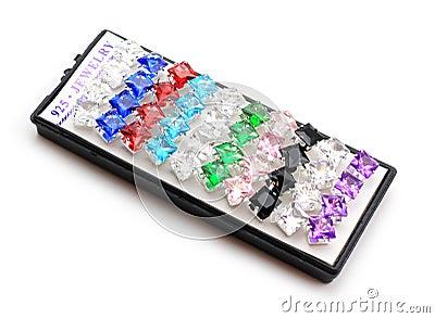Sterlng 925 Kolczyków Srebnych Krystalicznych