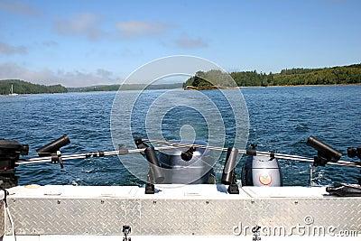 Stern of boat in sea