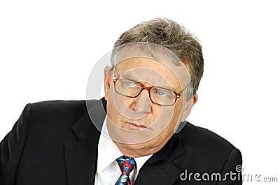 Stern Businessman