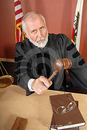 Free Stern Judge Stock Image - 5085991