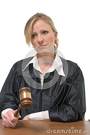 Stern looking woman judge