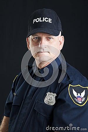 Stern Policeman Portrait