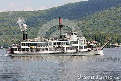 Sternwheel steamboat. Editorial Image