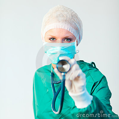 Stethescope de fixation de chirurgien vers l extérieur