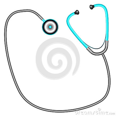 Stethoscope against white