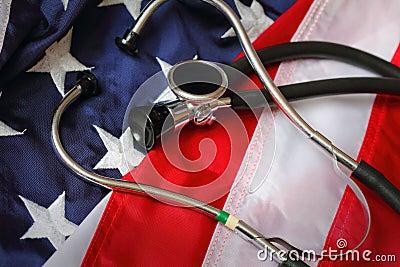 Stethoscope on Old Glory