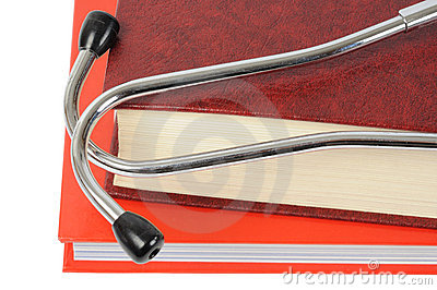 Stethoscope on Books