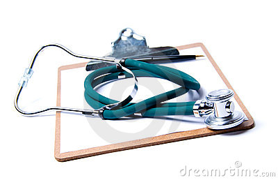 Stethoscope & clipboard