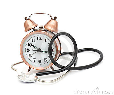 Stethoscope and clock