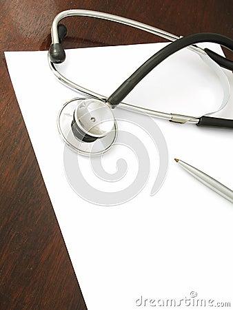 Stethoscope on desk - 1