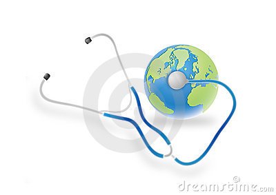 stethoscope and earth